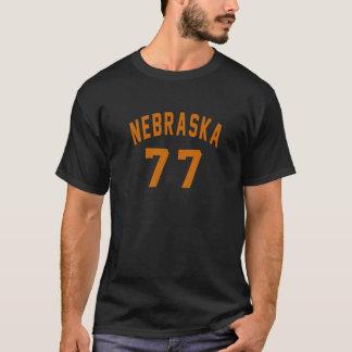 Le Nébraska 77 conceptions d'anniversaire T-shirt