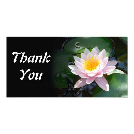 le nénuphar vous remercient carte photo cartes de vœux avec photo