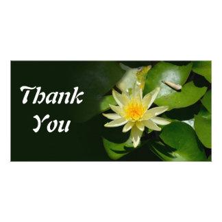 le nénuphar vous remercient carte photo photocarte