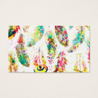 Le néon à la mode frais d'aquarelle éclabousse des cartes de visite
