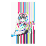 le néon vibrant coloré à la mode barre la douleur carte de visite standard