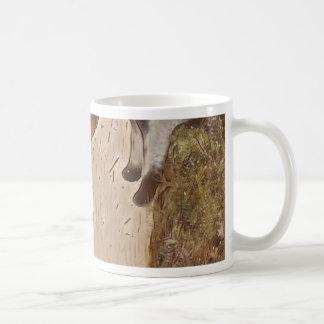 Le neutre artistique bronze des étoiles de mer sur mug