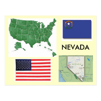 Le Nevada Etats-Unis Carte Postale