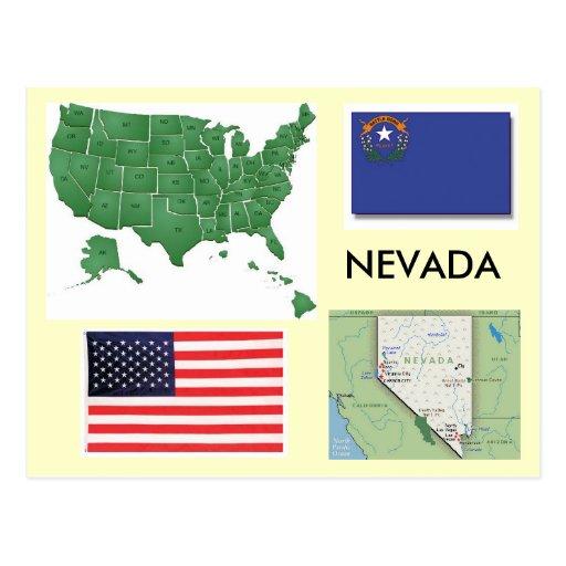 Le Nevada, Etats-Unis Carte Postale