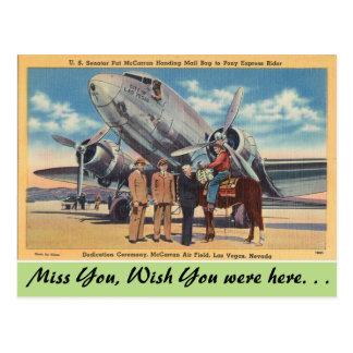 Le Nevada, gisement d'air de McCarran, Las Vegas Carte Postale