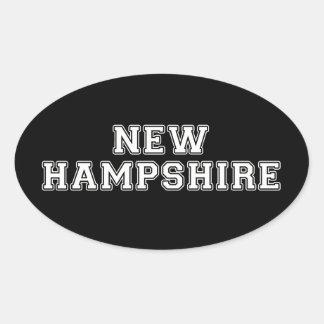 Le New Hampshire Sticker Ovale