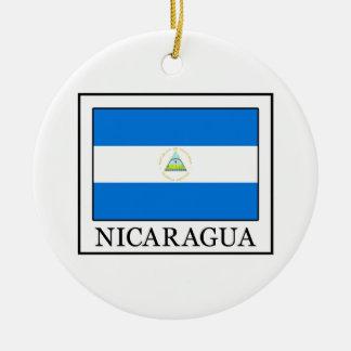 Le Nicaragua Ornement Rond En Céramique