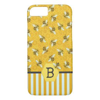 Le nid d'abeilles d'abeille gaffent le motif de coque iPhone 8/7
