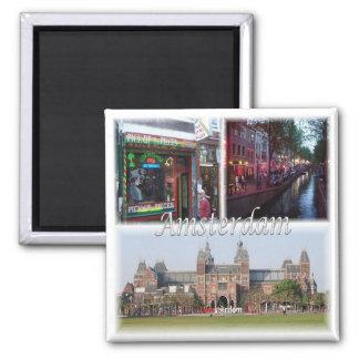 Le NL * Pays-Bas - Amsterdam Hollande Magnet Carré