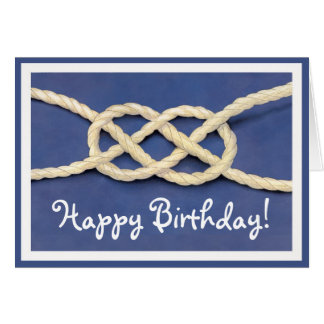 Le noeud des marins - joyeux anniversaire ! cartes