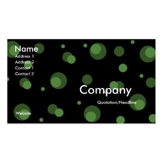 Le noir avec le vert pointille le carte de visite