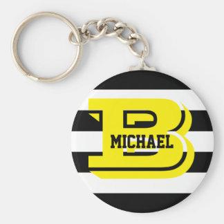 Le noir barre le porte-clés de bouton de