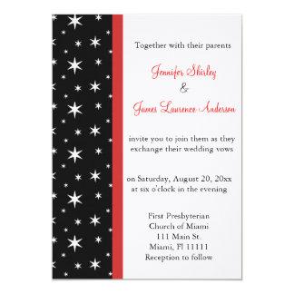 Le noir, blanc et le rouge tient le premier rôle carton d'invitation  12,7 cm x 17,78 cm