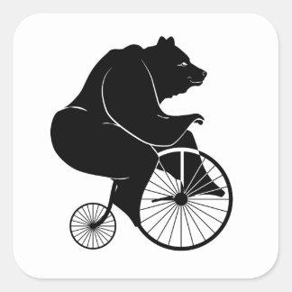 Le noir concernent le vélo vintage sticker carré