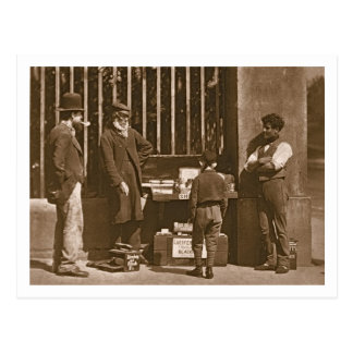 Le noir de chaussure dramatique, 1876-77 carte postale
