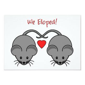 Le noir de souris de mariage s'est enfui pour se invitations personnalisées