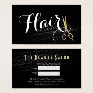 Cartes de visite rendez vous coiffeur personnalis es - Le salon noir ...