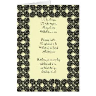 le noir et le citron soient ma carte de bridemaid