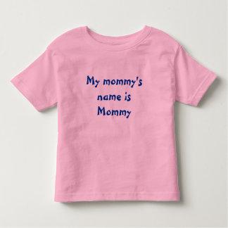 Le nom de ma maman est maman - chemise d'enfants t-shirts
