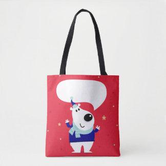 Le nounours heureux mignon badine des sacs