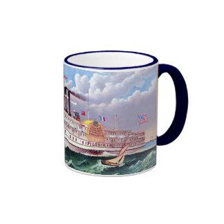 Le nouveau bateau à vapeur grand mug ringer