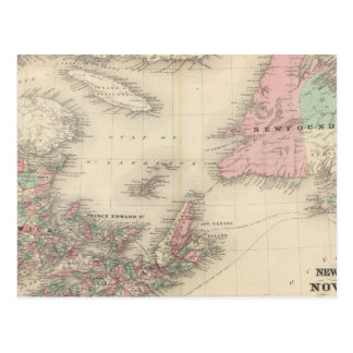 Le Nouveau Brunswick et la Nouvelle-Écosse Carte Postale