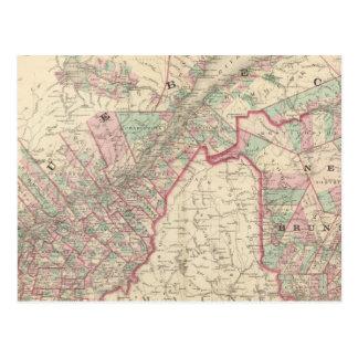 Le Nouveau Brunswick et le Québec Carte Postale
