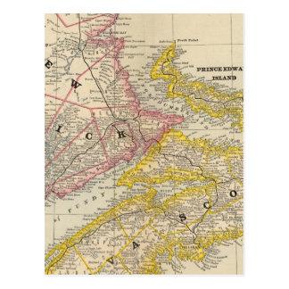 Le Nouveau Brunswick, la Nouvelle-Écosse Carte Postale