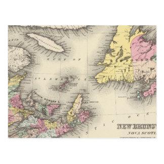 Le Nouveau Brunswick, la Nouvelle-Écosse, Carte Postale