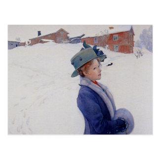 Le nouveau casquette de Lisbeth Carte Postale
