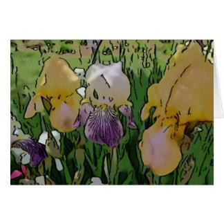 Le nouveau jour fait du jardinage aquarelle Carte