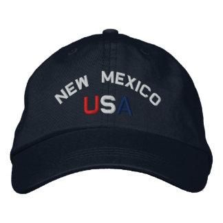Le Nouveau Mexique Etats-Unis a brodé le casquette