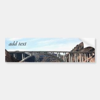 Le nouveau pont de déviation de barrage de Hoover Autocollant De Voiture
