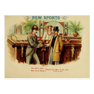 Le nouveau sport ont une boisson sur moi carte postale