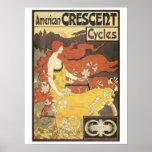 Le nouveau vintage d'art va à vélo l'annonce affiche
