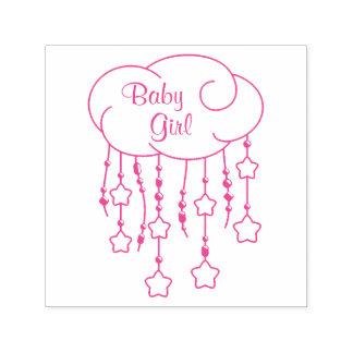 Le nuage perle le bébé de mobile d'étoiles tampon auto-encreur