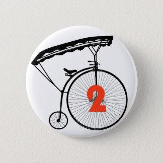 """Le numéro deux boutonnent l'insigne - numéro 2"""" le pin's"""