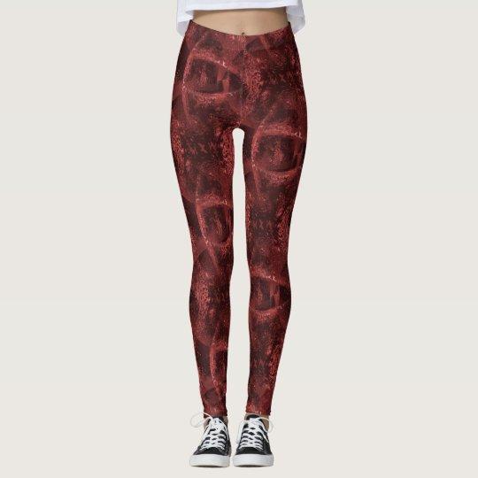 """Le """"oeil rouge et noir vous voient"""" modeler leggings"""