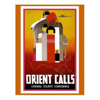 """Le """"orient appelle"""" l'affiche vintage de voyage carte postale"""