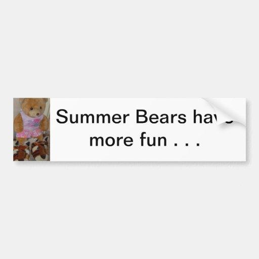 """Le """"ours d'été dans le tigre chausse"""" CricketDiane Autocollants Pour Voiture"""