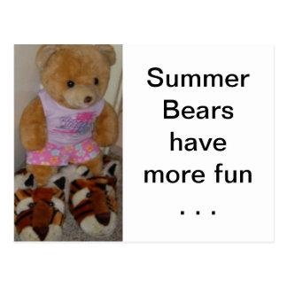 """Le """"ours d'été dans le tigre chausse"""" CricketDiane Carte Postale"""