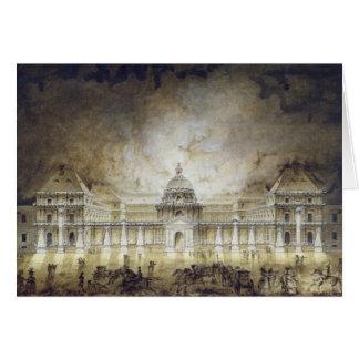 Le palais du luxembourgeois illuminé carte de vœux