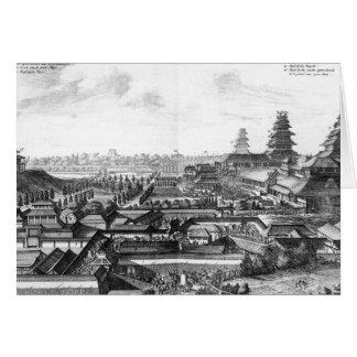Le palais impérial dans Ido, Japon Carte De Vœux