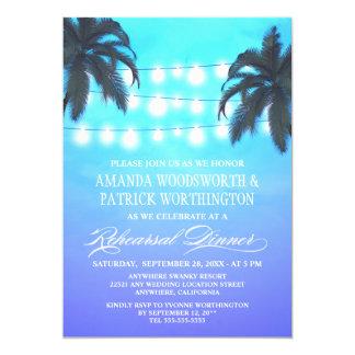 Le palmier allume des invitations de dîner de