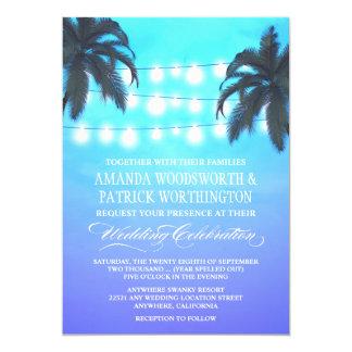 Le palmier allume des invitations de mariage