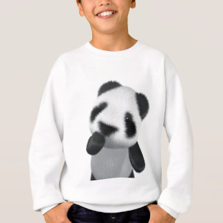 Le panda 3d mignon pense (editable) sweatshirt