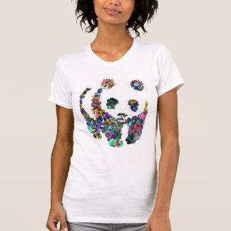 le panda fleurit le T-shirt