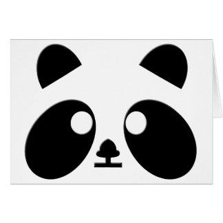 Le panda observe l'art carte de vœux