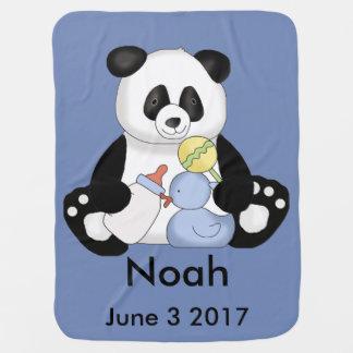 Le panda personnalisé de Noé Couvertures De Bébé