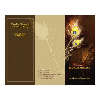 Le paon d'or fait varier le pas des brochures trip tract personnalisé
